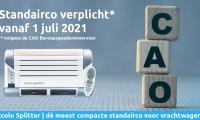 Standairco verplicht vanaf 1 juli 2021 volgens de CAO Beroepsgoederenvervoer